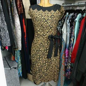 Just Taylor Cap Sleeve Waist Tie Detail Dress